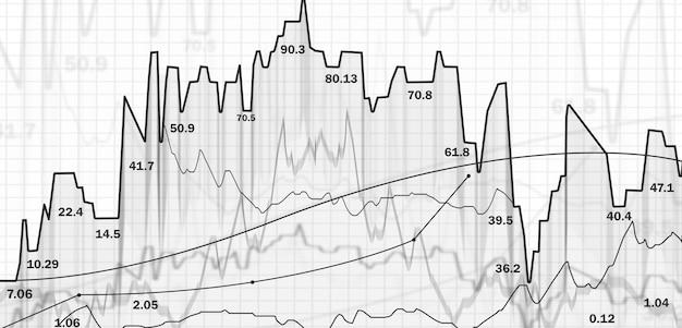 Stock trading. graphiques et tableaux. bourse financière