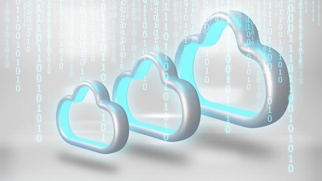 Stockage des données dans le cloud. concept de technologie informatique en nuage.