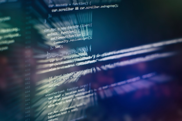 Stockage de données volumineuses et représentation du cloud computing. code de programmation.