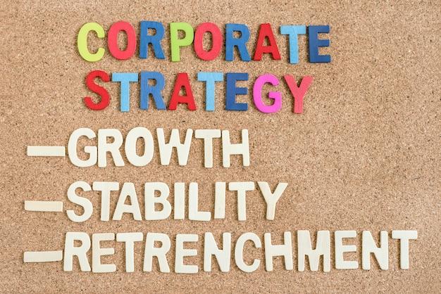 Stratégie d'entreprise au tableau