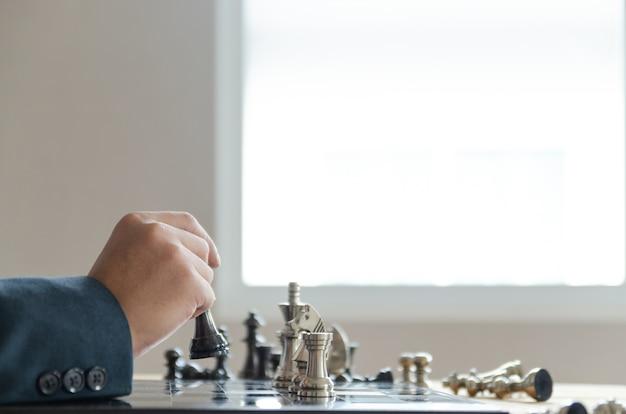 Stratégie de jeu d'échecs, concept de réussite commerciale