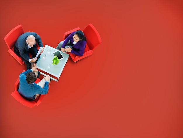 Stratégie de planification de remue-méninges concept de collaboration d'équipe