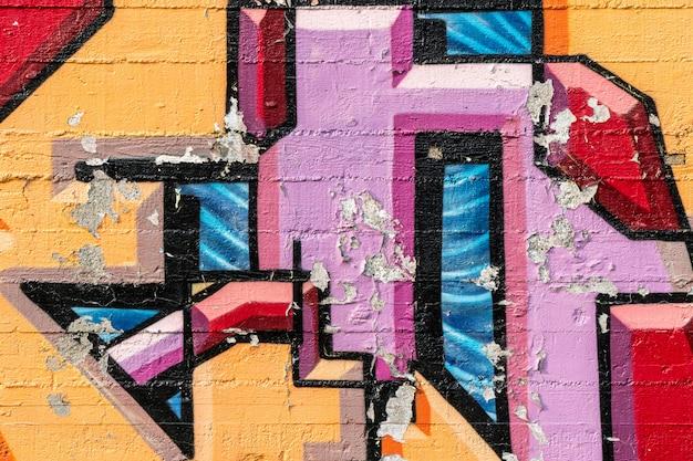 Street art, graffitis colorés sur le mur
