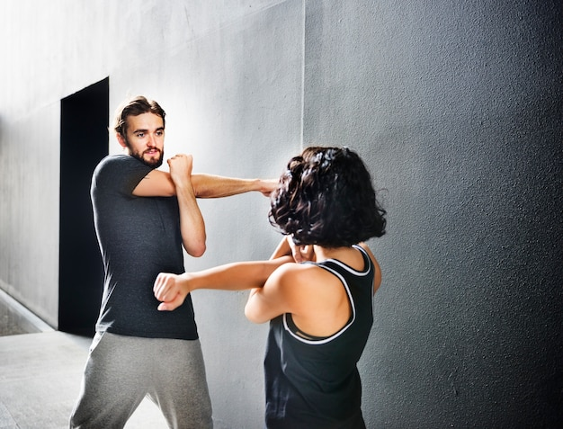 Stretching exercice d'entraînement sport concept sain