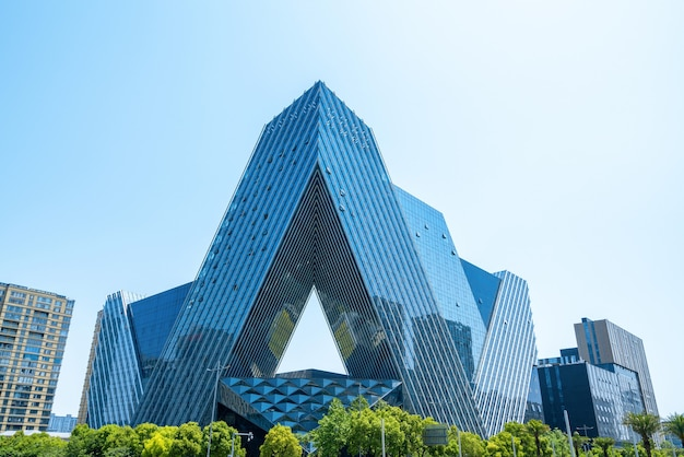 Structure de bâtiment moderne, structure de bâtiment géométrique