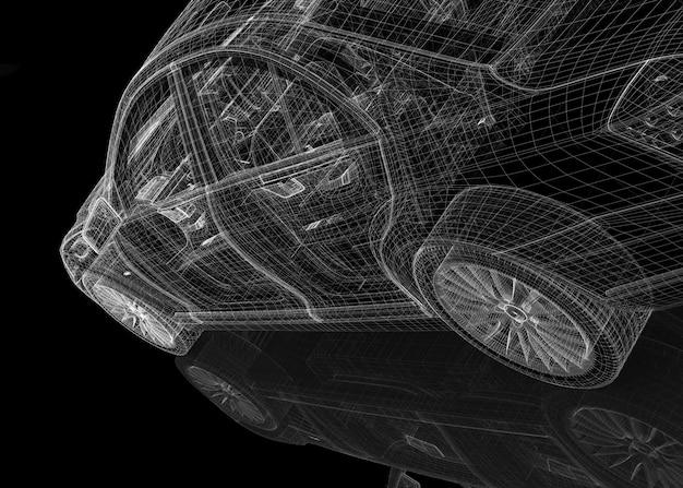 Structure de carrosserie modèle 3d de voiture