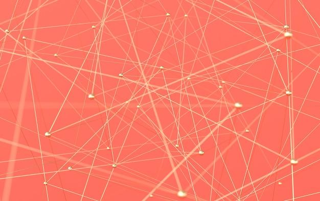 Structure de connexion sphères et tubes plexus doré