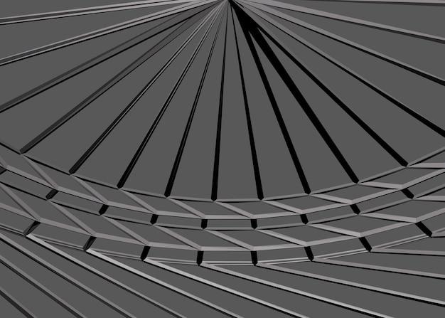 Structure de formes géométriques sur sol en béton avec fleur abstraite photo premium