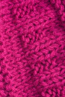 Structure d'un gros tricot