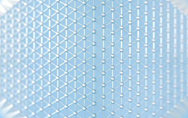 Structure de lignes et de sphères abstraites rendant les couleurs pastel
