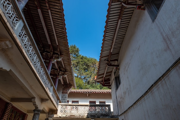 Structure locale des temples bouddhistes traditionnels chinois