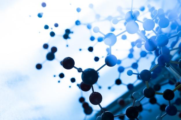 Structure de modèle d'adn de molécule de science