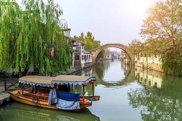 Structure de la ville fonction scènes bateaux vieux