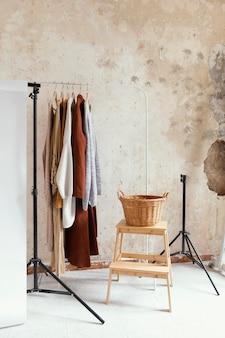 Studio avec accessoires pour la photographie