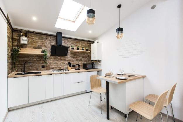 Studio de cuisine photographie d'intérieur dans un style loft