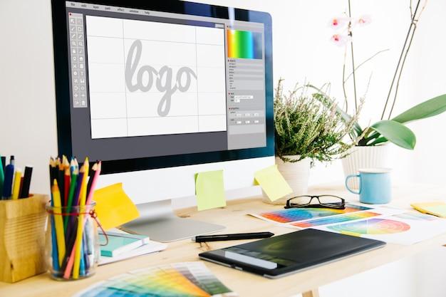 Studio De Design Graphique Photo Premium
