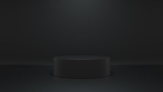 Studio noir de rendu 3d