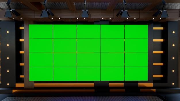 Studio de nouvelles pour les émissions de télévision nouvelles virtuelles