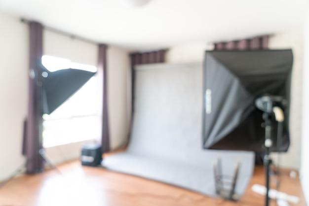 Studio de photographe flou abstrait