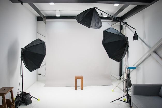 Studio de photographie blanche
