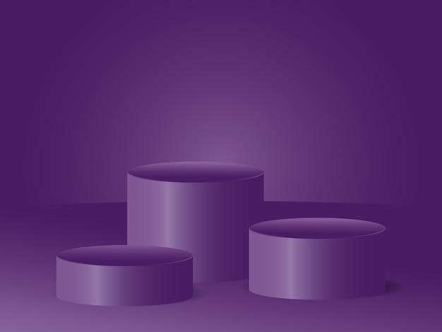Studio de podium vide rendu vectoriel 3d concept de publicité moderne fond de velours pour les produits