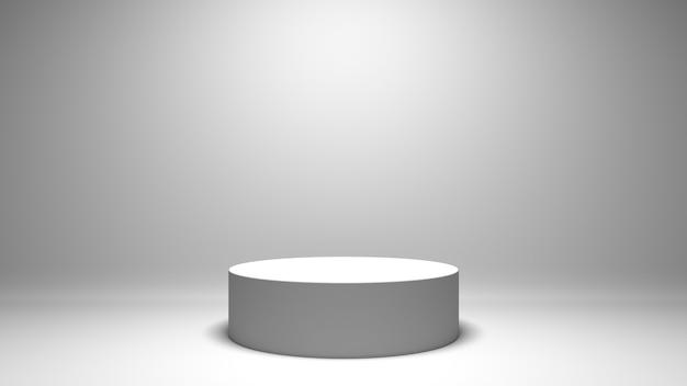 Studio de rendu 3d blanc