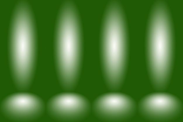 Studio vert vide bien utilisé comme arrière-plan