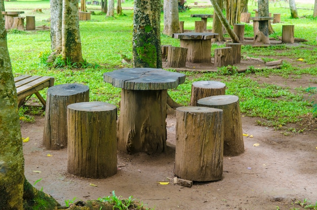 Emejing Table De Jardin En Bois Rondin Ideas - House Design ...