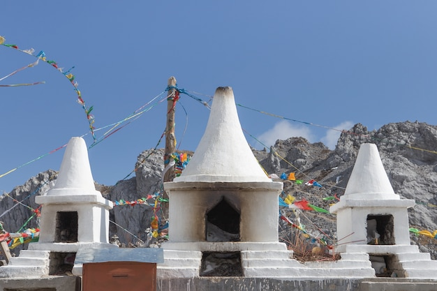 Stupa à haute montagne, chine