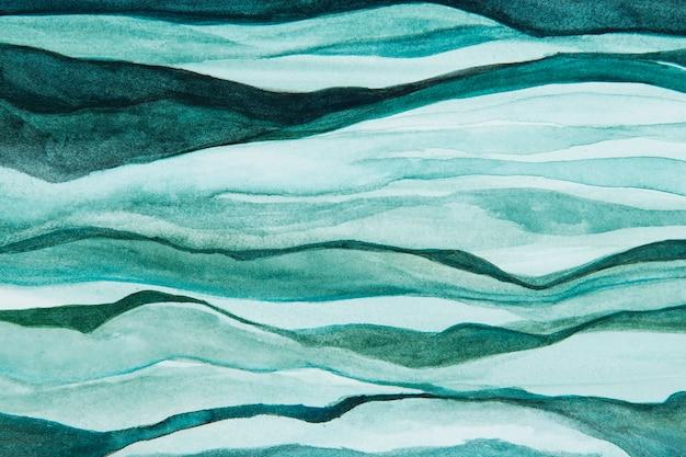 Style abstrait de fond vague verte ombrée