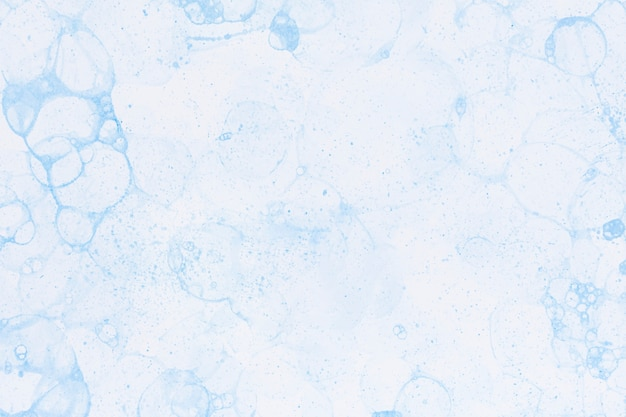Style de bricolage de fond de peinture à bulles bleues