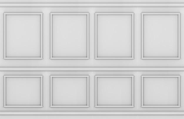 Style classique vintage moderne moulage fond de conception de forme carrée mur.
