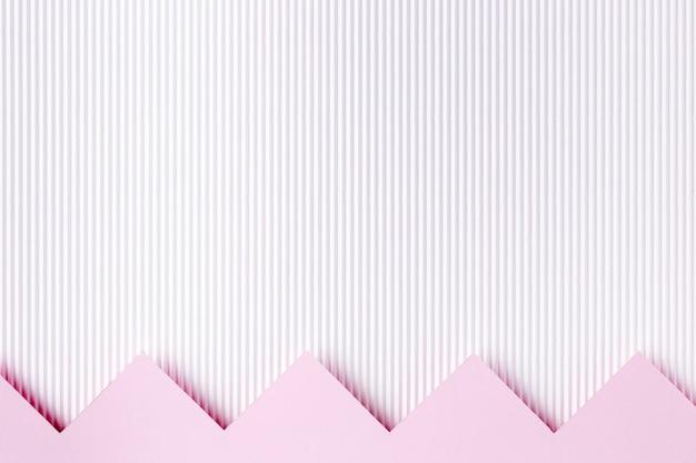 Style de fond de formes de papier rose