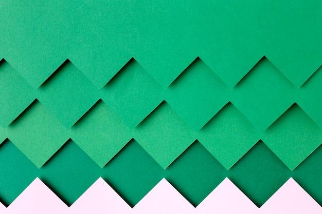 Style de fond de formes de papier vert