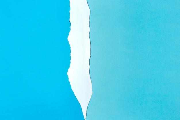 Style de fond de papier blanc et bleu