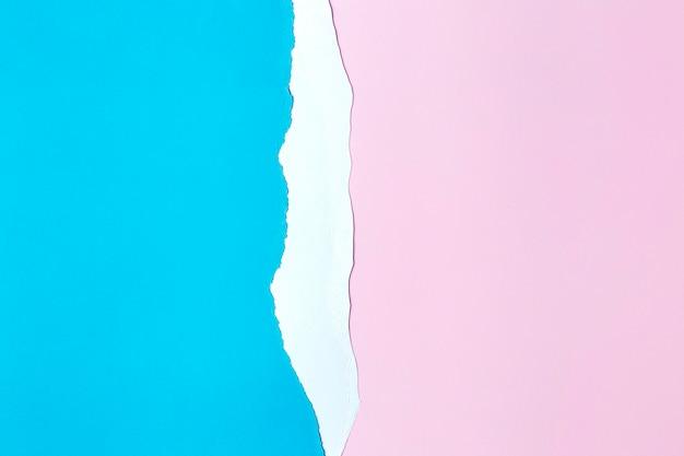 Style de fond de papier rose et bleu