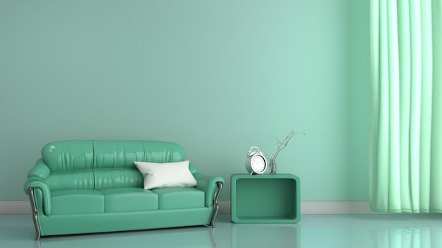 Style moderne intérieur de chambre. rendu 3d