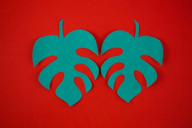 Style de papier découpé des feuilles de monstera