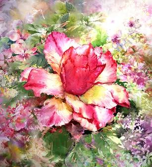 Style de peinture aquarelle bouquet de fleurs multicolores