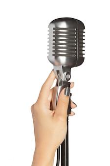 Style rétro de microphone audio