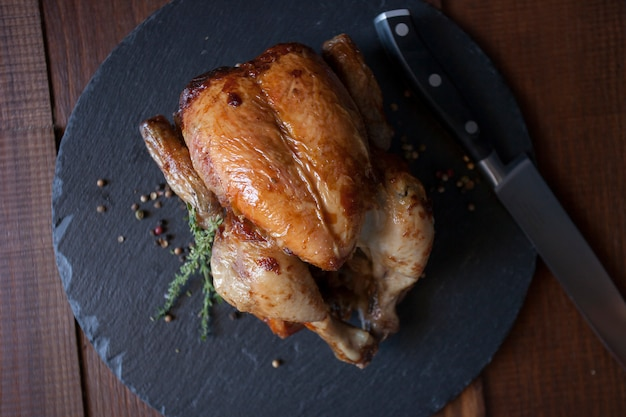 Style de vie savoureux gourmet pollo gastronomie