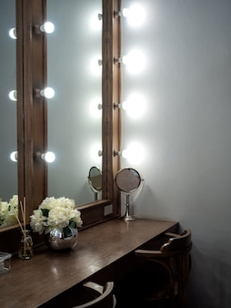 Style vintage de salle de maquillage.