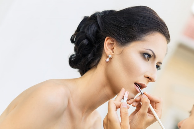 Styliste maquillant