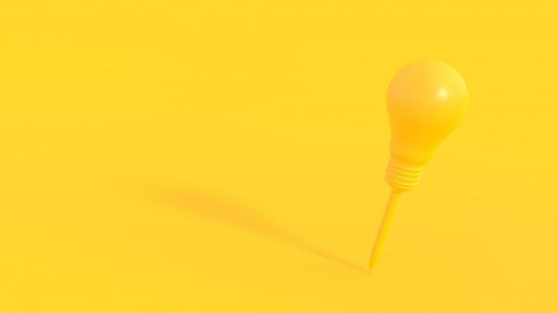 Stylo jaune sont en forme d'ampoule.