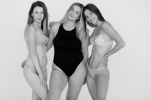 Succès diversité beauté corps positif et concept de personnes