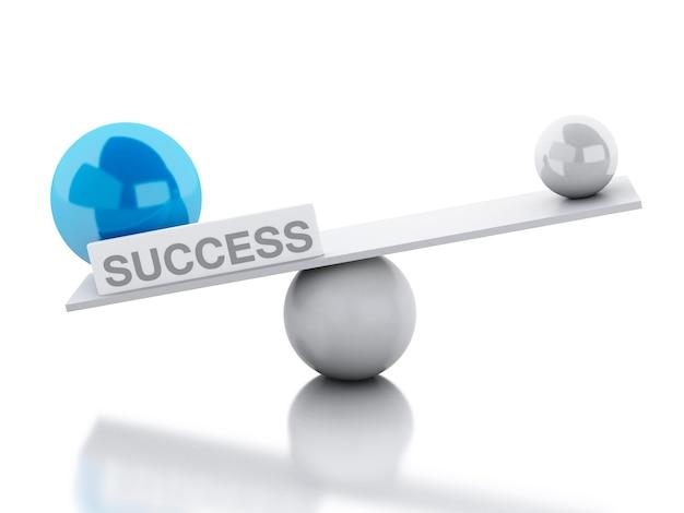 Le succès de l'équilibre de la balance