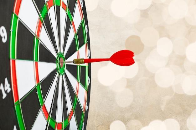 Succès frapper la cible, objectif objectif concept de réalisation