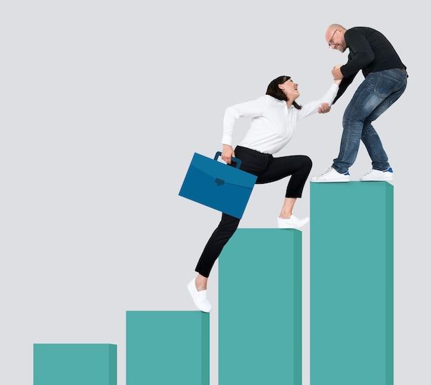 Le succès grâce au leadership et au travail d'équipe