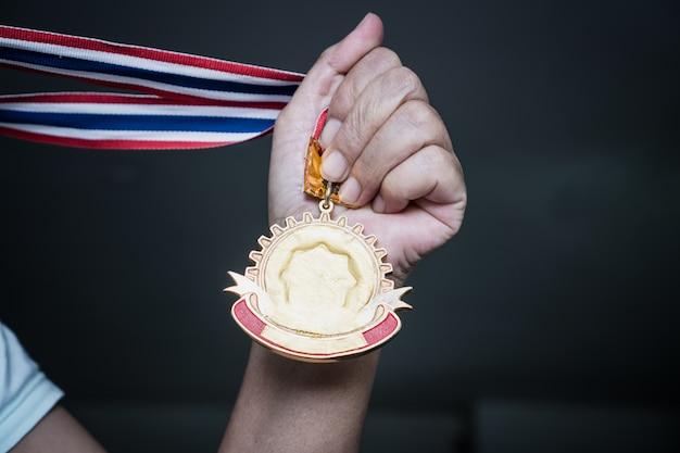 Success awards victory pour le concept d'entreprise de leadership