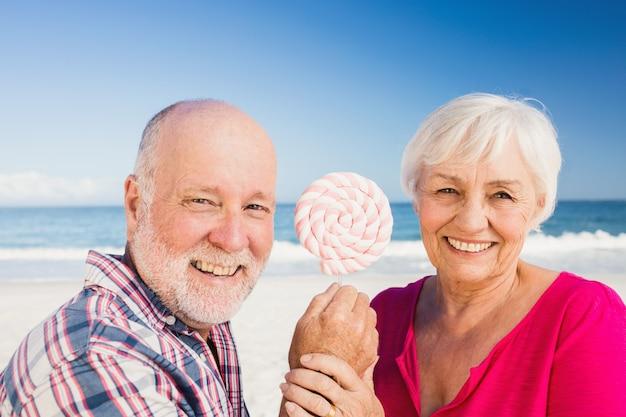 Sucette de couple senior